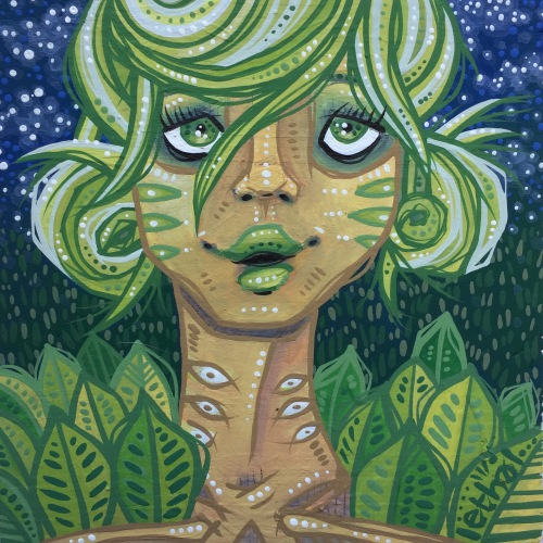 green earth kid girl painting