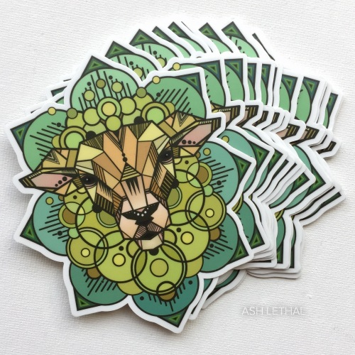 sacred sheep art stickers